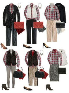 I have a red plaid shirt I can duplicate some of these looks with. SOURCE-> Blog: A Bigger Closet: Still Mad for Tartan - Styling J.Crew's Boyshirt in Grey Tartan