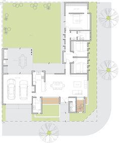Casas: ideas, arquitectura e imágenes - architektur haus Modern House Floor Plans, Home Design Floor Plans, New House Plans, Dream House Plans, Small House Plans, Modern Architecture House, Architecture Plan, Small House Design, Modern House Design