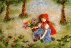 Waldorf inspired needle felted Fairy Tale/ Wool by MagicWool