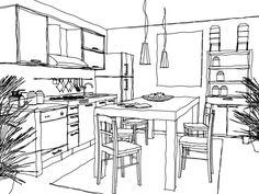 desenhos de objetos de casa - Pesquisa Google