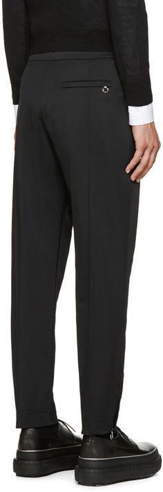 Acne Studios Pantalon noir doublé en molleton Roland
