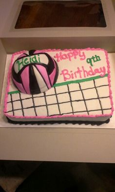 Volleyball cake Volleyball Birthday Cakes, Baby Booties, Savior, Party Time, Cooking Recipes, Sweets, Baking, Desserts, Kids