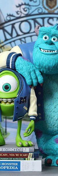 Monsters University: Mike, Sulley & Archie Deluxe Vinyl Collectible Set (Hot Toys) $149.99