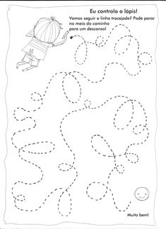 Controle do lápis! Atividade de cordenacão Preschool Writing, Preschool Learning Activities, Kids Learning, Preschool Lessons, Art Lessons Elementary, Lessons For Kids, 4 Year Old Activities, Handwriting Activities, Art Drawings For Kids