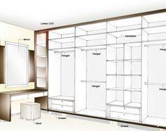 Wardrobe layout idea