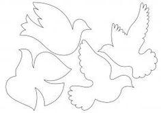 Pombos em feltro - Feltro e moldes para artesanato Paper Birds, Felt Birds, Applique Fabric, Hand Applique, Quilling Paper Craft, Paper Crafts, Bead Crafts, Diy And Crafts, Independence Day Activities