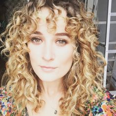 Curly bangs done right.