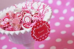 FREEBIE Valentines Hershey Kiss Stickers