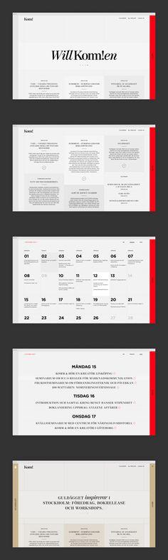 KOMM – The Swedish Association of Communication Agencies   design by Lundgren+Lindqvist