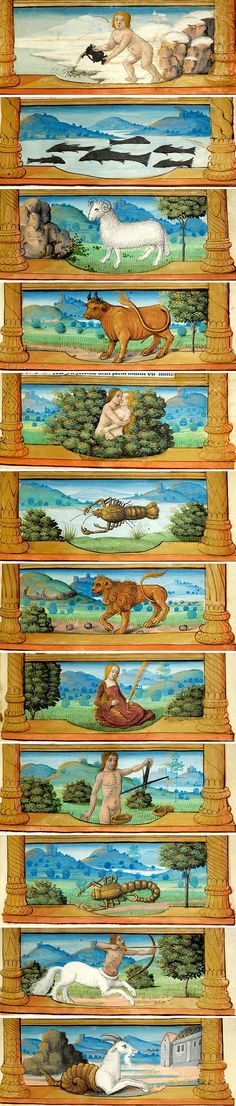 Signs of the Zodiac | Breviary France | ca. 1511 | The Morgan Library & Museum