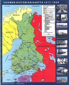 Suomen historia 1917 - 1939 Old Maps, Nordic Design, Interesting History, Historian, Ancient History, Independence Day, Geography, Good To Know, Nostalgia