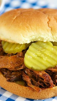 Slow Cooker Beef and Pork Sandwiches