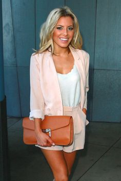 Mollie King and The Saturdays Out in Santa Monica