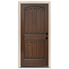 Feather river doors 37 5 in x in 2 panel plank - Prefinished mahogany interior doors ...