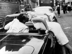 Too cute. Marilyn Monroe and Arthur Miller photographed by Sam Shaw, 1957.