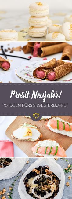 New Years buffet: With these 15 ideas you are right - Neujahr Silvester Party, Kitchen Stories, Snacks Für Party, Winter Food, Special Day, Camembert Cheese, Cooking, Cake, Desserts