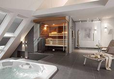 Unique Home Decor Design-Sauna SATORI mit vollverglaster Front.Unique Home Decor Design-Sauna SATORI mit vollverglaster Front. Jacuzzi Bathroom, Beach Bathrooms, Cheap Bathrooms, Rustic Bathrooms, Saunas, Home Spa Room, Spa Rooms, Diy Design, Layout Design