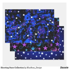 Shooting Stars Collection Wrapping Paper Sheets