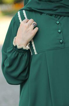 Robalı Dantelli Elbise , – 2020 Fashions Womens and Man's Trends 2020 Jewelry trends Kurta Designs Women, Blouse Designs, Abaya Fashion, Fashion Dresses, Hijab Style Dress, Modele Hijab, Mode Abaya, Muslim Women Fashion, Sleeves Designs For Dresses
