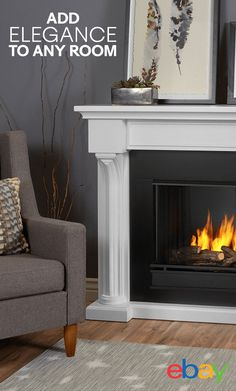Cozy up next to the Real Flame Verona Gel Fuel Fireplace. The Verona inspires charming elegance with detailed columns that slope to meet the generously sized mantel top. The hand-painted logset and bright crackling flame add to the realistic look. Create a gorgeous focal point in your room that adds warmth and beauty to the space. Get it on eBay and shop more home decor online.