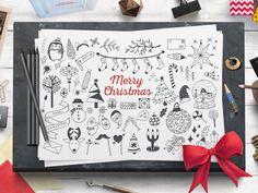 Cozy Christmas Free Vector Set by Tatiana Lapina