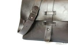 Handmade leather bag. Made in Ukraine