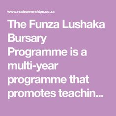 The Funza Lushaka Bursary Programme is a multi-year programme that promotes teaching in public schools. Applications will not be consider. Teaching Posts, Teaching Career, Personal Integrity, Academic Success, Need To Meet, Public School, Higher Education, Schools, How To Apply