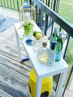 Apartment Living: apartment Balcony, outdoor bar, small outdoor spaces