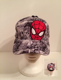 Spider-Man Boys Baseball Cap - Grey Comic Strip - Personalized by CACBaskets on Etsy