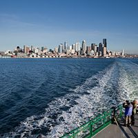 Bainbridge Island and Seattle background