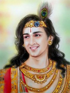 Nice painting of d character of krishna played by Saurav Raj Jain
