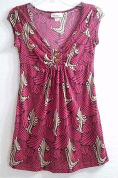 Bell Du Jour Women's Top ~ Shirt Size Small Long for Leggings Cap Sleeves E #BelleDuJour #KnitTop #Casual