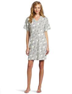 HUE Women's Daisy Dog V-Neck Sleep Shirt $26.99 - 38.00 -cute, need to wear the comfy big slipper.