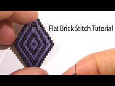 BeadsFriends: Basic Brick Stitch tutorial - How to create a rhombus with beads - YouTube