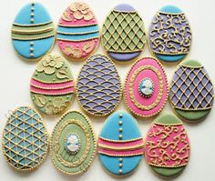 Insanely beautiful Easter cookies ~ by SweetAmbs, natch
