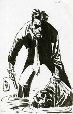 Original Comic Art titled Bernet - Torpedo illustration, located in Gianni's Comic Art - Torpedo Comic Art Gallery Comic Art Fans, Comic Style Art, Comic Styles, Character Poses, Character Design, Bd Art, Comic Frame, Jordi Bernet, Sketch Poses