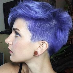 Matt's hair color | a dark lavender/periwinkle that looks blue in some lights and purple in others.