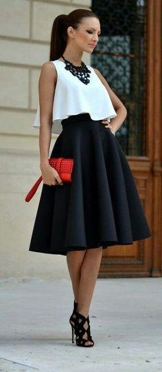 5aa64d6816 25 mejores imágenes de outfits faldas