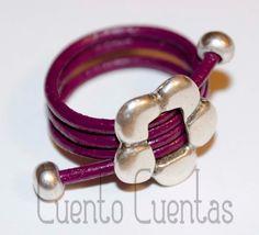 Anillos con cuero - Leather rings