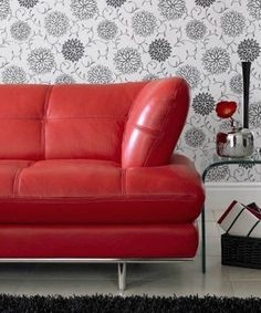 sally red leather sofa for the home pinterest studios leather