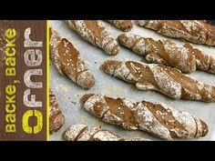 Bio Kornspitz | Backe backe Ofner - YouTube Chicken Wings, Food And Drink, Bread, Baking, Ethnic Recipes, Youtube, Bread Baking, Pretzel Sticks, Brown Bread