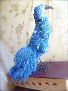 Jakob fiber art bird soft sculpture by Cesart64 on Etsy