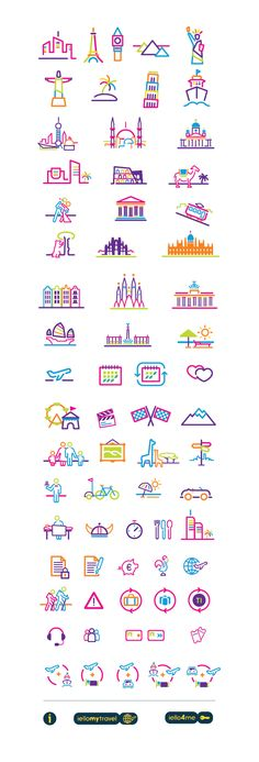 IELLO TRAVEL by David Rafachinho, via Behance, #icon #design