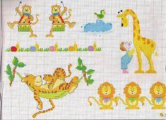 animali giraffa tigre con cucciolo su amaca