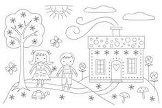 Hansel & Gretel Embroidery Pattern