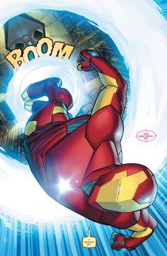 Invincible Iron Man #1 interior art by David Marquez *