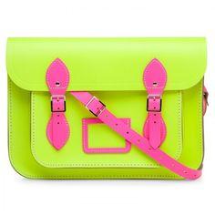 The Cambridge Satchel Company Fluro Multicoloured 13 inch satchel, found on polyvore.com