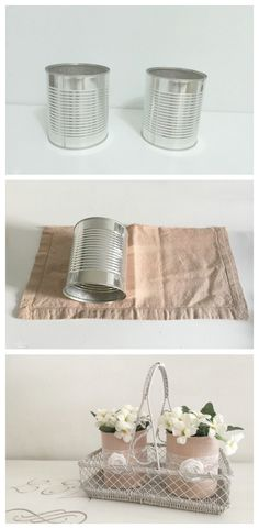 Fabric wrapped tin can basics deco Tin Can Crafts, Cute Crafts, Diy And Crafts, Room Deco, Diy Home Decor On A Budget, Diy Chair, Diy Craft Projects, Handmade Crafts, Home Art