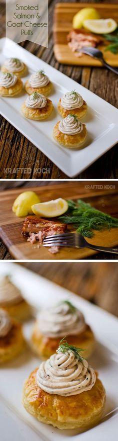 Smoked Salmon & Goat Cheese Puff - Krafted Koch