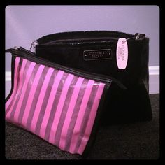 VS Cosmetic Makeup Bags Two VS makeup bags, the smaller one can be uncl upped from the inside. Both brand new Victoria's Secret Bags Cosmetic Bags & Cases